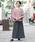FELLINI(フェリーニ)の「裏ベロアイージーマキシスカート(スカート)」|チャコール