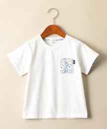 【キッズ】フラワーポケットTシャツ