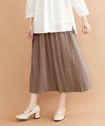 merlot plus(メルロープリュス)の細プリーツスカート8539(スカート)