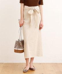 titivate(ティティベイト)のリネンライクウエストリボンスカート(スカート)