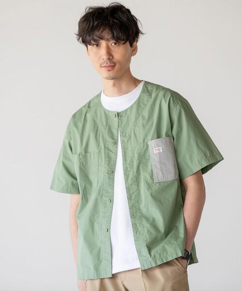 SMITH'S(スミス)別注ノーカラーショートスリーブシャツ#