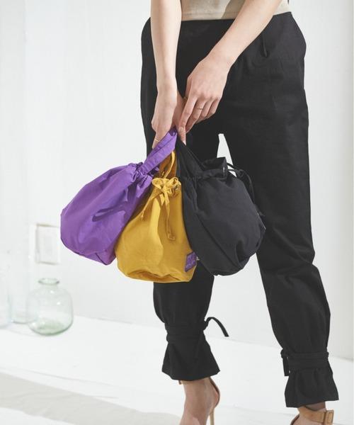ナイロン&コットン巾着BAG