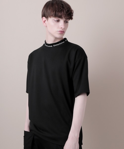 オーバーサイズポンチローマモックネックカットソー 1/2 sleeve (EMMA CLOTHES)