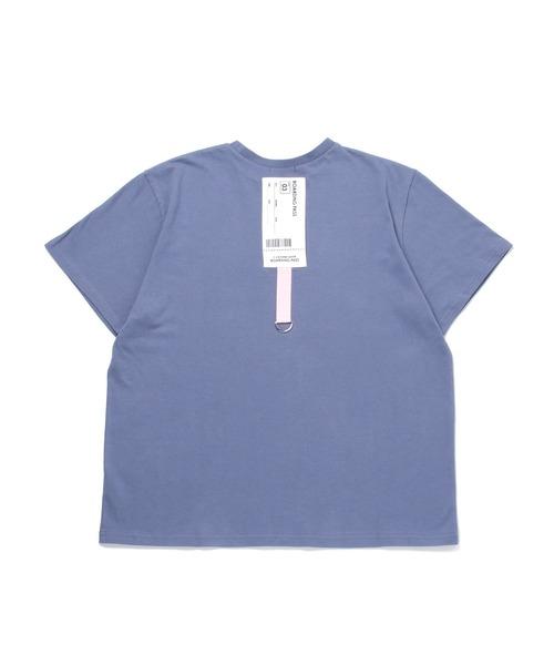ANDGEEBEE(アンジービー)の「【UNISEX】バックチケットTシャツ(Tシャツ/カットソー)」|ブルー