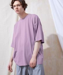 ヘビー天竺オーバーサイズS/Sカットソー EMMA CLOTHES 2021SUMMERパープル