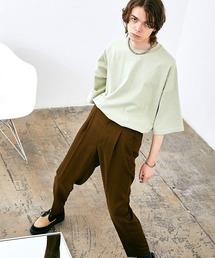 ヘビー天竺オーバーサイズS/Sカットソー EMMA CLOTHES 2021SUMMERグリーン系その他