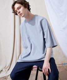ヘビー天竺オーバーサイズS/Sカットソー EMMA CLOTHES 2021SUMMERブルー系その他