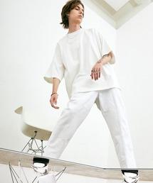 ヘビー天竺オーバーサイズS/Sカットソー EMMA CLOTHES 2021SUMMERオフホワイト