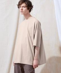 ヘビー天竺オーバーサイズS/Sカットソー EMMA CLOTHES 2021SUMMERライトベージュ
