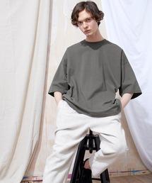 ヘビー天竺オーバーサイズS/Sカットソー EMMA CLOTHES 2021SUMMERチャコール