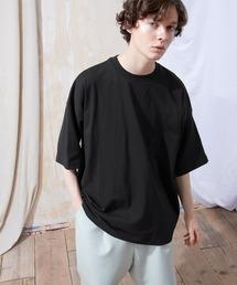 ヘビー天竺オーバーサイズS/Sカットソー EMMA CLOTHES 2021SUMMERブラック