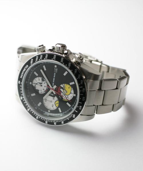 Disney(ディズニー)の「シークレット ミッキー ウォッチ タイプ1 フルカラー ステンレスバンド(腕時計)」|シルバー