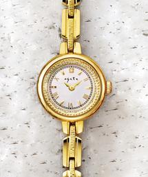 ラウンドフェイスソーラーウォッチ 【AGETE36YG時計】(腕時計)