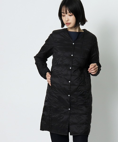【TAION/タイオン】V NECK LONG DOWN JACKET W101LONG