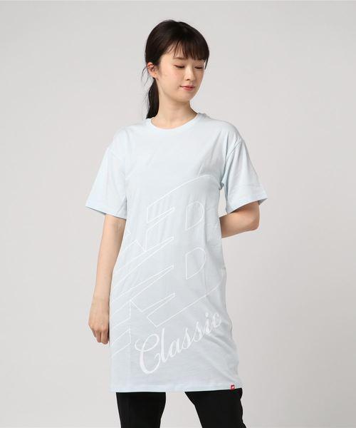 55a5bf7b14211 New Balance(ニューバランス)のニューバランス エッセンシャルクラシックTドレス(Tシャツ/カットソー