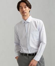 スリム EASY IRON ストライプ ショートワイド ドレスシャツ<機能性 / イージーアイロン>