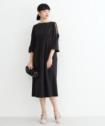 merlot plus(メルロープリュス)のショルダーレースワンピース1571(ドレス)