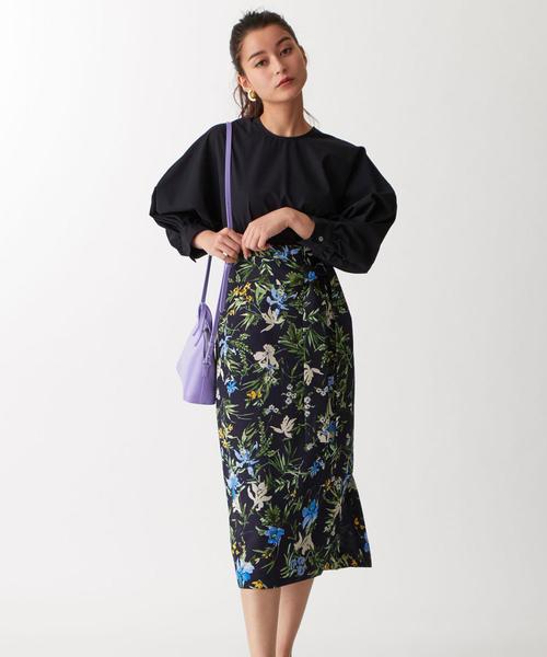 【EMMEL REFINES】FC カラフルフラワー ベルトスカート