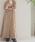 STUDIOUS(ステュディオス)の「【WEARISTA 田中亜希子 × STUDIOUS コラボ】ハイウエストツイルロングワンピース(ワンピース)」|詳細画像