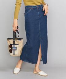 <Wrangler>スリットタイトスカート/ネイビー