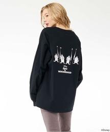 【Disney/ディズニー/ふしぎの国のアリス/ハートの女王/トランプ兵】ロングTシャツブラック