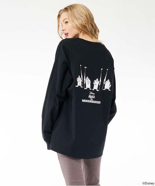 【Disney/ディズニー/ふしぎの国のアリス/ハートの女王/トランプ兵】ロングTシャツ
