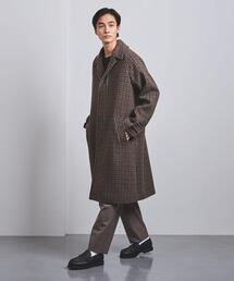 <Camoshita(カモシタ)> チェック シングル バルカラー コート