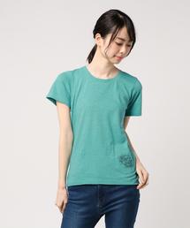 HG-TROPIC プリント ポケ付Tシャツ