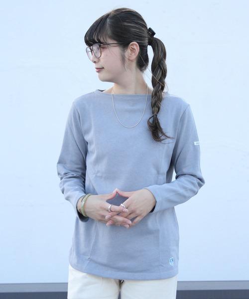 ORCIVAL / オーシバル コットンロードロングスリーブ バスクシャツ ソリッド #B211