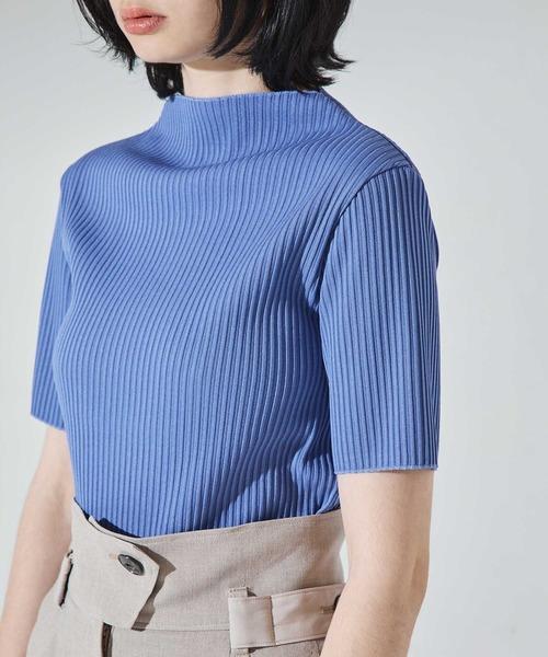 UNITED TOKYO(ユナイテッドトウキョウ)の「ラスターリブハーフスリーブ /半袖 カットソー(Tシャツ/カットソー)」|詳細画像