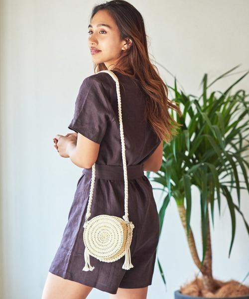 wakami Medium bag (ワカミ ミディアムバッグ)(ナチュラル)(Women's)(かごバッグ wkm9005)