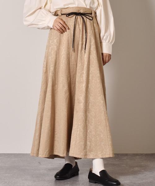 ロープベルト付きマーメイドスカート