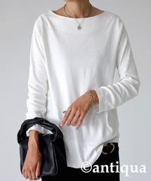 antiqua(アンティカ)のベーシックコットンロンT(Tシャツ/カットソー)