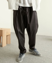 TRストレッチスーツ地 ワンタック セミワイド テーパードアンクルパンツ EMMA CLOTHES 2021 SPRINGブラック系その他2