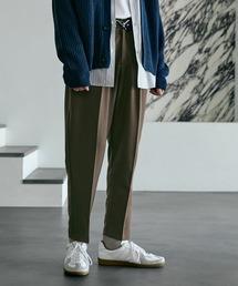 TRストレッチスーツ地 ワンタック セミワイド テーパードアンクルパンツ EMMA CLOTHES 2021 SPRINGブラウン系その他5