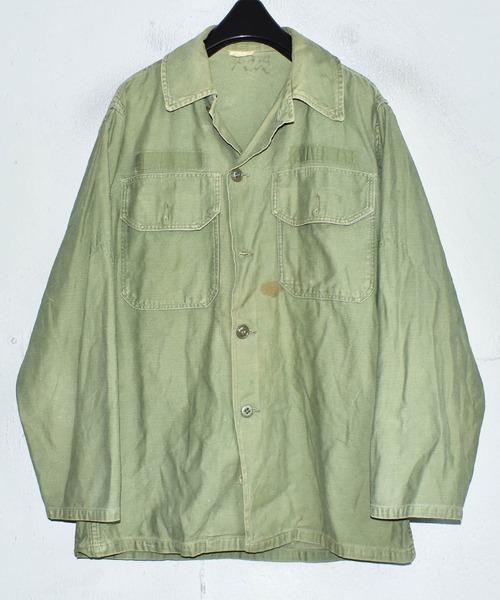 【ヴィンテージ古着】60's ミリタリー U.S.ARMY SHADE 107 ユーティリティシャツ