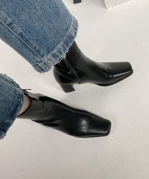 【chuclla】【2020/AW】half-moon heel square boots chs85