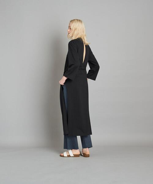 <THE HINOKI>STAND COLLAR SLIT DRESS/ワンピース Ψ