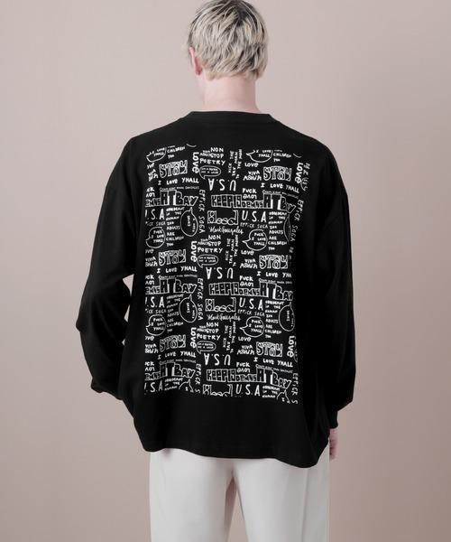 Mark Gonzales/マークゴンザレス EMMA CLOTHES別注 ビッグシルエットセンタープリント L/S Tee(背面プリント)