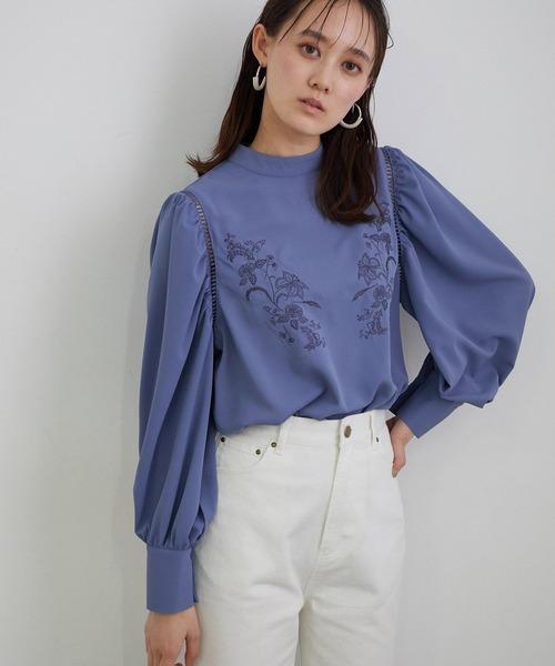 ViS(ビス)の「【WEB限定】刺繍ブラウス(シャツ/ブラウス)」|ブルー系その他4