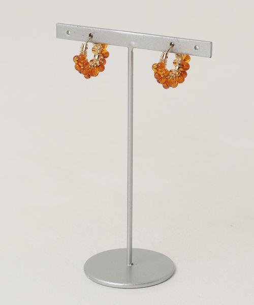 TONE SELECT GOODS(トーンセレクトグッズ)の「【marinaJEWELRY】14kgf/天然琥珀Baltic Amber pave pierced earring(ピアス(両耳用))」 ブラウン