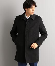 W/アンゴラ ヘリンボーン ステンカラー コート