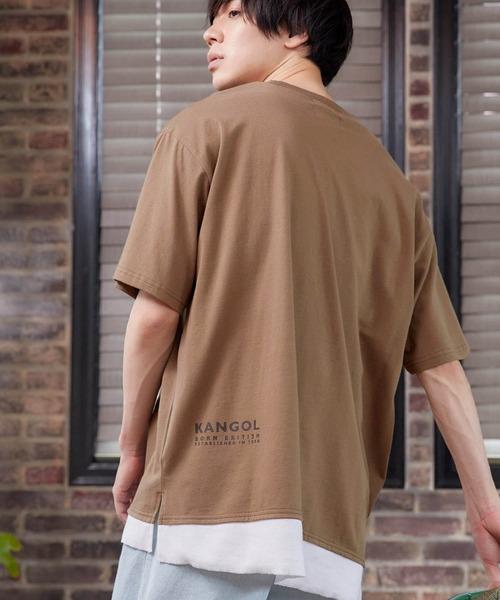 KANGOL/カンゴール 別注 ヘビーウェイト ビッグシルエット フェイクレイヤード クルーネック Tシャツ(1/2 sleeve)
