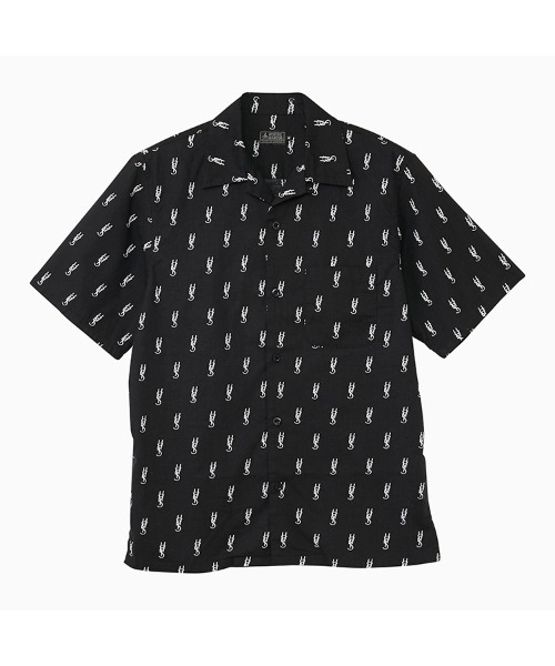 HYS MONOGRAM柄 オープンカラーシャツ