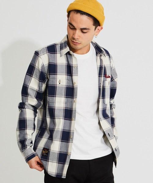 【予約中!】 Heavy check shirt ヘビーネル チェック ワークシャツ, ミナミマツウラグン d6e08ac2