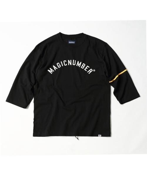 MAGIC NUMBER(マジック ナンバー)の「US COTTON PRINT 3/4 SLEEVE TEE(Tシャツ/カットソー)」 ネイビー