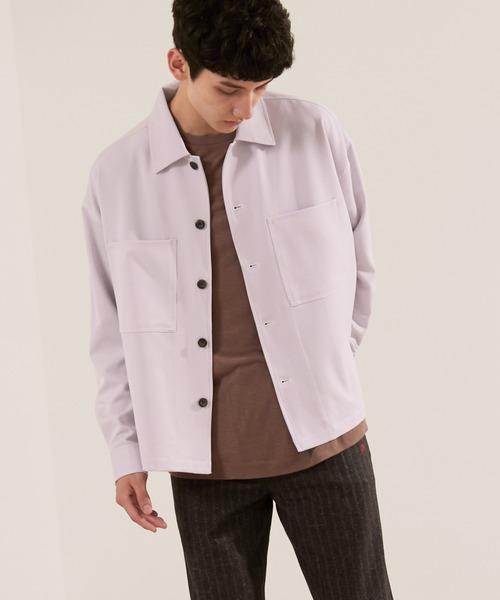 TRストレッチ ビッグステッチ L/Sオーバーボックス CPOシャツジャケット EMMA CLOTHES 2021 A/W