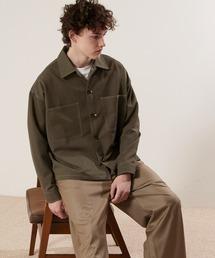 TRストレッチ ビッグステッチ L/Sオーバーボックス CPOシャツジャケット カバーオールシャツ EMMA CLOTHES 2021 S/Sブラウン系その他6