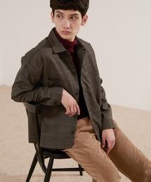 TRストレッチ ビッグステッチ L/Sオーバーボックス CPOシャツジャケット カバーオールシャツ EMMA CLOTHES 2021 S/Sブラウン系その他7