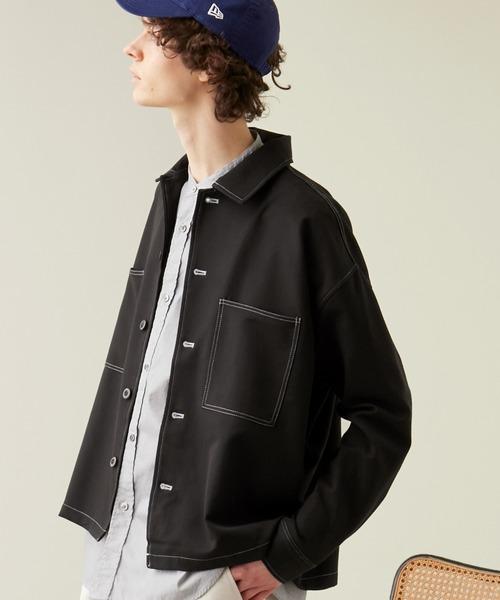 TRストレッチ ビッグステッチ L/Sオーバーボックス CPOシャツジャケット